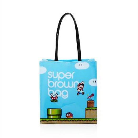52bf9faf1 Bloomingdale's Bags | Bloomingdales Super Mario Brown Bag Reusable ...